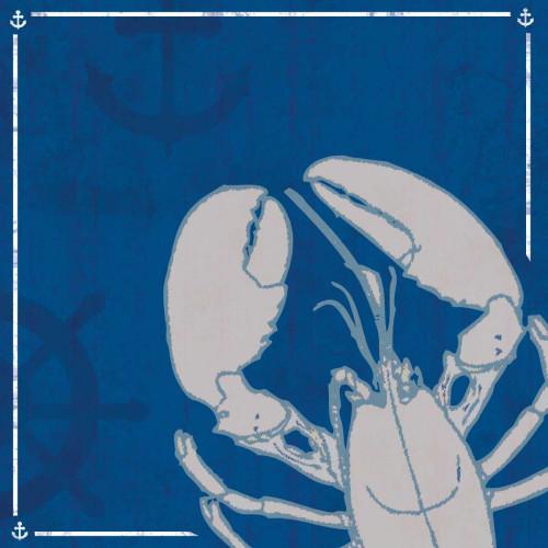 Blue Sea Lobster Poster Print by Lauren Gibbons - Item # VARPDXGLSQ078C