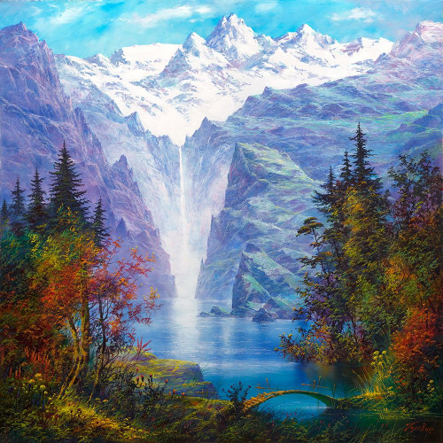 Lake in mountains Poster Print by Konstantin Golovin - Item # VARPDXGOLA7