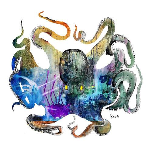 Octopus Poster Print by Michel Keck - Item # VARPDXHK1172