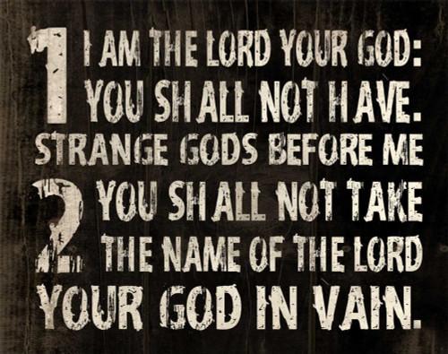 10 Commandments Poster Print by Jace Grey - Item # VARPDXJGRC100A