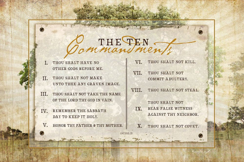 10 Commandments Poster Print by Jennifer Pugh - Item # VARPDXJP6129