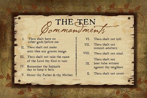 10 Commandments II Poster Print by Jennifer Pugh - Item # VARPDXJP6131