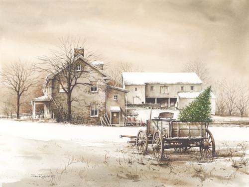 Bringing Home the Tree Poster Print by John Rossini - Item # VARPDXJR141