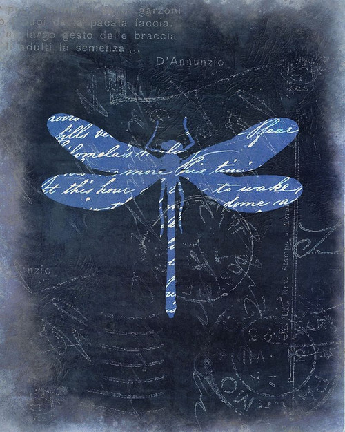 Dragonfly Blue 1 Poster Print by Kimberly Allen - Item # VARPDXKARC876A