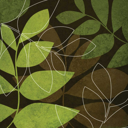 Green and Brown Leaves I Poster Print by Kristin Emery - Item # VARPDXKESQ018A