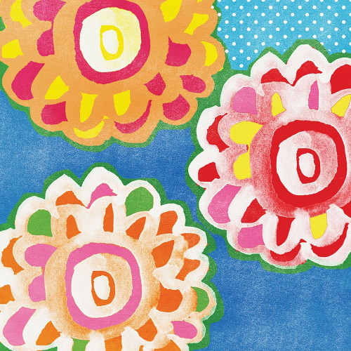 Celebration Flowers II Poster Print by Linda Woods - Item # VARPDXLW4450