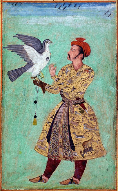 Prince and Falcon Poster Print by Mughal c1690 Anon - Item # VARPDXMA911