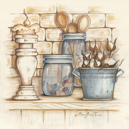 Jars and Wooden Spoons Poster Print by Mary Ann June - Item # VARPDXMARY525