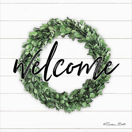Welcome Wreath Poster Print by Susan Ball - Item # VARPDXSB580