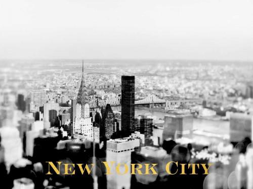 NYC Skyline Gold Poster Print by Tracey Telik - Item # VARPDXTKRC129E