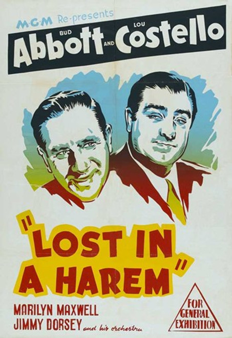 Abbott and Costello, Lost in a Harem, c.1944 Movie Poster (11 x 17) - Item # MOV437170