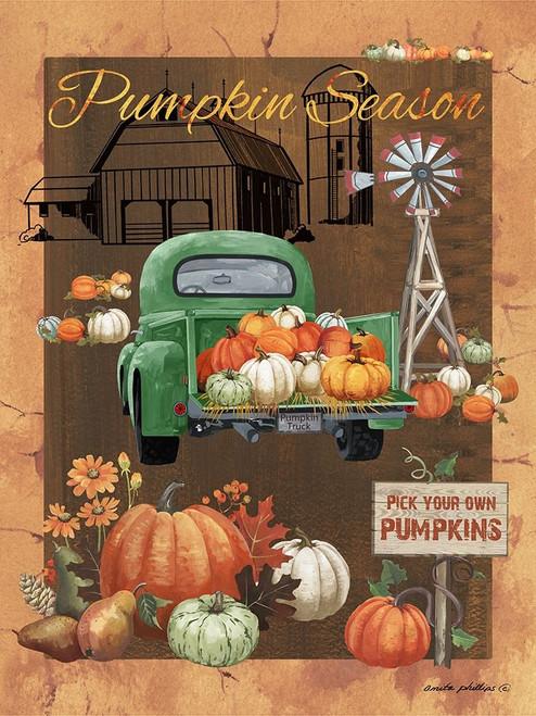 Pumpkin Season VI Poster Print by Anita Phillips # AP2365