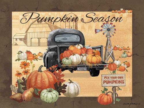 Pumpkin Season Poster Print by Anita Phillips # AP2360