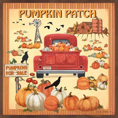 Pumpkin Patch Poster Print by Anita Phillips # AP2387