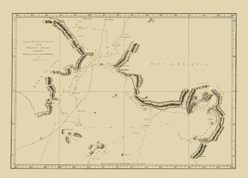 Alaska Bering Strait - Nicol 1785 Poster Print by Nicol Nicol # AKZZ0031