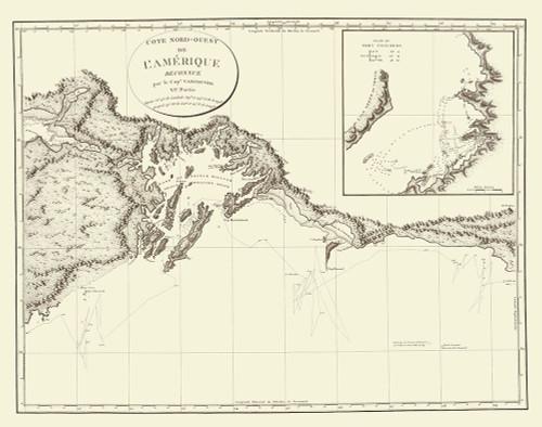Prince WilliamS Sound Alaska - Vancouver 1800 Poster Print by Vancouver Vancouver # AKZZ0026