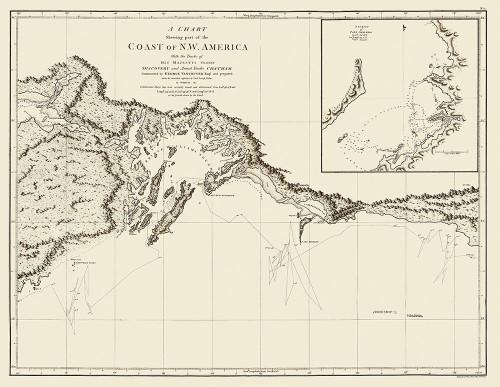Alaskan Coast - Vancouver 1798 Poster Print by Vancouver Vancouver # AKZZ0037