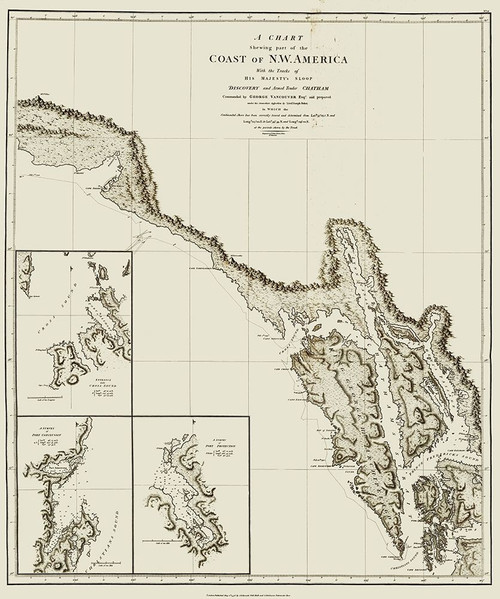 Alaska Southern Portion - Vancouver 1798 Poster Print by Vancouver Vancouver # AKZZ0039