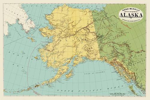 Alaska, Siberia - Rand McNally 1897 Poster Print by Rand McNally Rand McNally # AKZZ0047