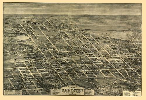 Anniston Alabama - Hart 1903 Poster Print by Hart Hart # ALAN0003