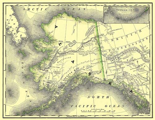 Alaska - Dept of Interior 1879 Poster Print by DOI DOI # AKZZ0004