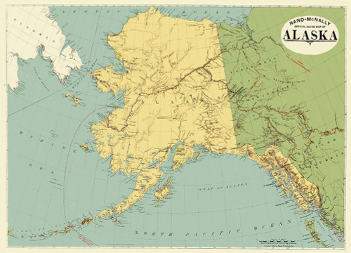 Alaska - Rand McNally 1897 Poster Print by Rand McNally Rand McNally # AKZZ0006