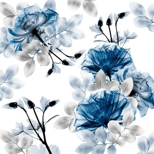 Indigo Bouquets 1 Poster Print by Albert Koetsier # AK8SQ424A