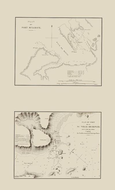Port Mulgrave, Nouvelle Archangle Alaska Poster Print by Mofras Mofras # AKPO0001
