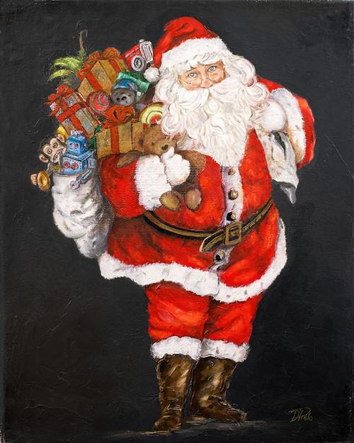 Jolly and Joyful Night Santa Poster Print by Patricia Pinto # 8675AD