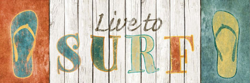 Live to Surf Poster Print by SD Graphics Studio SD Graphics Studio # 8305D