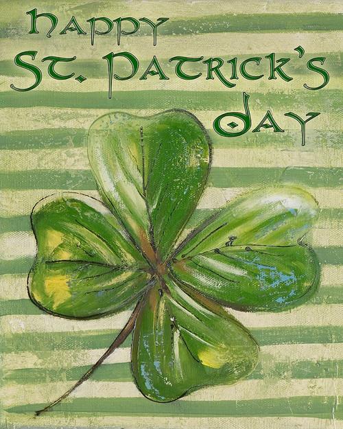 St Patricks Four Leaf Clover Poster Print by Patricia Pinto # 7734B