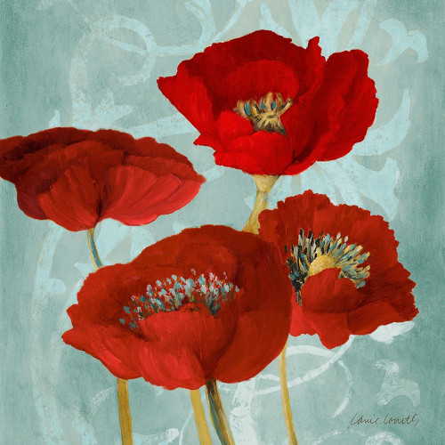 Rouge Pavots I Poster Print by Lanie Loreth # 7816B