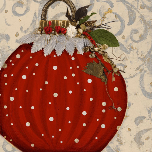 Red Ornament I Poster Print by Patricia Pinto # 7664B