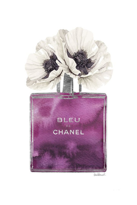 Purple Cologne with Poppy Poster Print by Amanda Greenwood # AGD116470