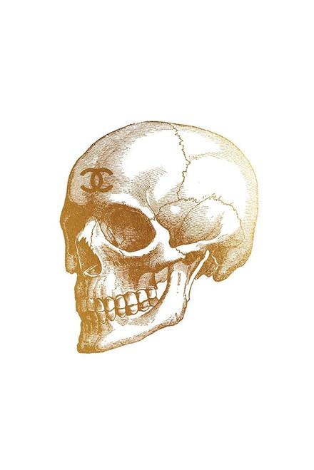 Gold Skull Poster Print by Amanda Greenwood # AGD115791