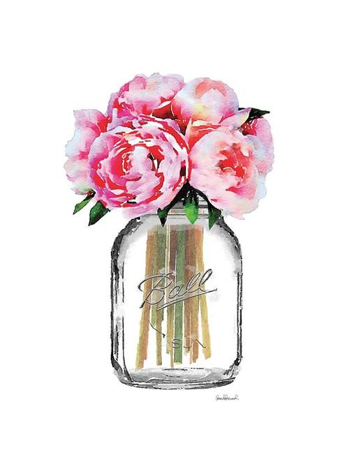 Jar Peony Poster Print by Amanda Greenwood # AGD115738