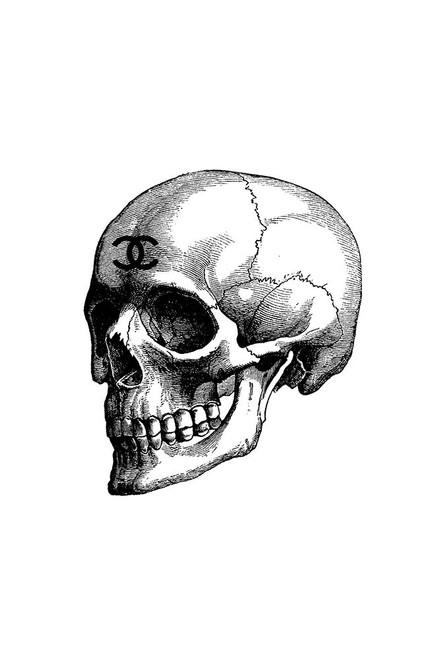 Black Skull Poster Print by Amanda Greenwood # AGD115790