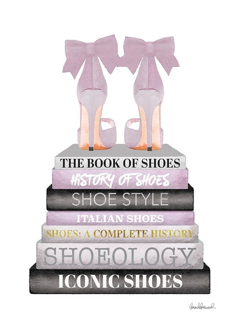 Lavender Bookstack Shoe Poster Print by Amanda Greenwood # AGD115488