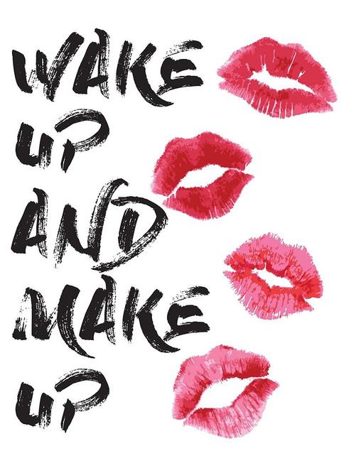 Wakeup Makeup Lipstick Kisses Poster Print by Amanda Greenwood # AGD115428