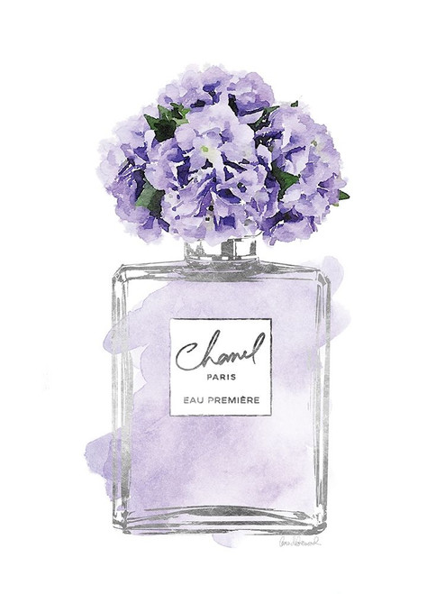 Silver Perfume and Flowers V Poster Print by Amanda Greenwood # AGD115460