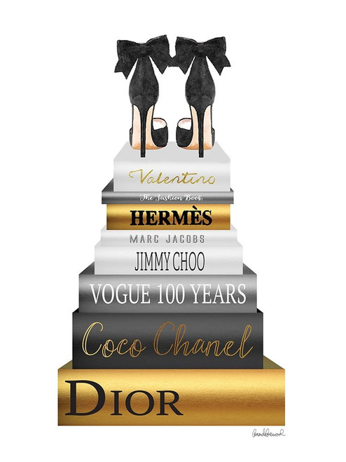 Book Stack Metallic Gold Poster Print by Amanda Greenwood # AGD115352