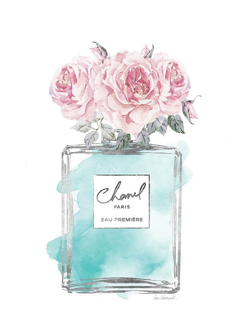Silver Perfume and Flowers VI Poster Print by Amanda Greenwood # AGD115461