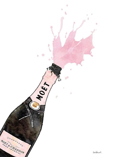Champange Splash Pink Poster Print by Amanda Greenwood # AGD115437