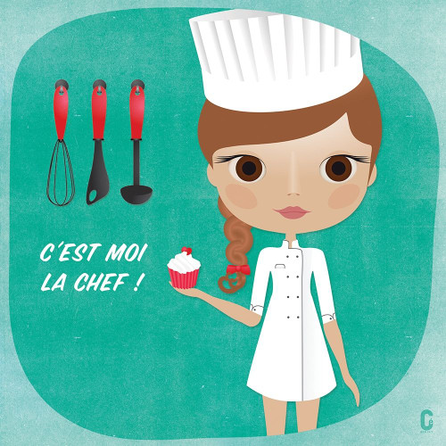 Nenette Chef Poster Print by Cecile Nolf # A602
