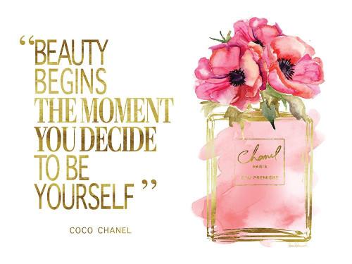 Beauty Begins Poppy Poster Print by Amanda Greenwood # AGD115464