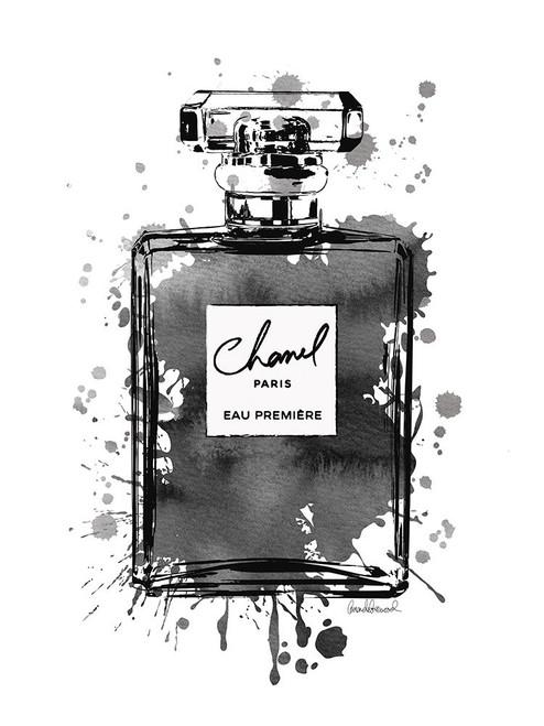 Black Inky Perfume in Black Poster Print by Amanda Greenwood # AGD115466