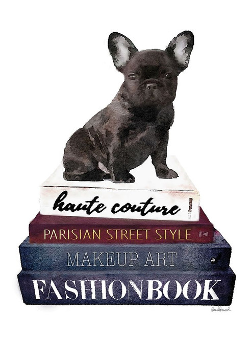 Bookstack Frenchie Poster Print by Amanda Greenwood # AGD115442