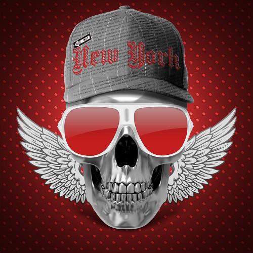 Red Skull NY Poster Print by Braun Studio Braun Studio # A622