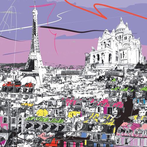 Tour Eiffel, Sacre C�_ur Poster Print by Tandem Tandem # A525