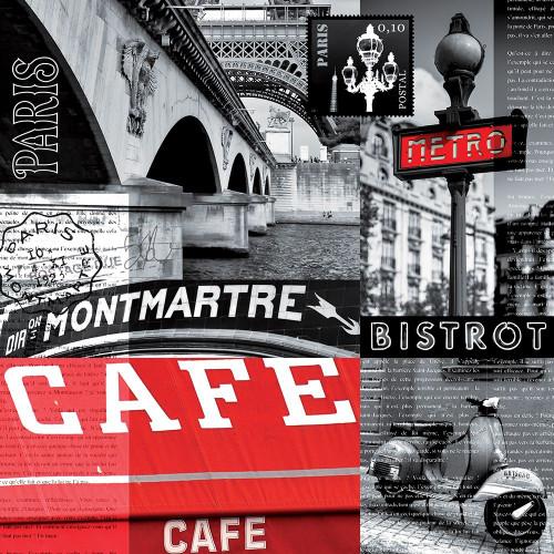 Cafe parisien Poster Print by BRAUN Studio BRAUN Studio # A593